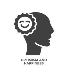 Optimism and happiness glyph icon vector
