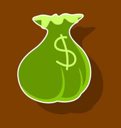 Paper sticker on theme arabic business money bag vector
