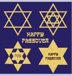 passover matzoh jewish stars vector image