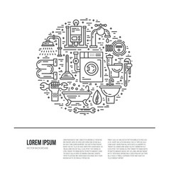 plumbing concept vector image