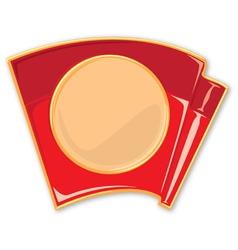 porcelain enamel red flag vector image