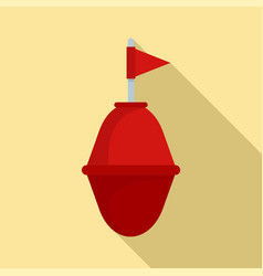 Port buoy icon flat style vector