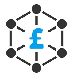 Pound Finance Network Flat Icon Symbol vector