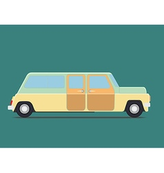retro travel van vector image