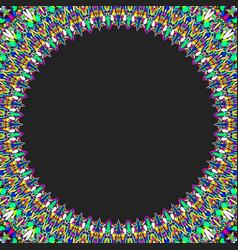 round floral frame design - border graphic element vector image