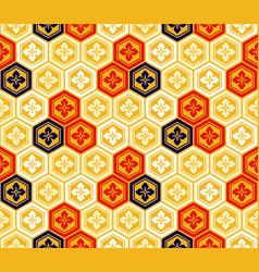 Seamless japanese kikkou pattern vector