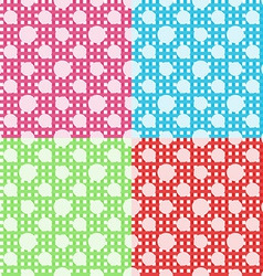 set four polka dot seamless patterns vector image