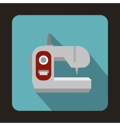Sewing machine icon flat style vector