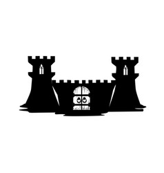 silhouette of a fairy castle vector image