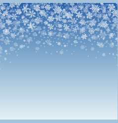 snowflakes falling on blue background vector image