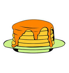 Stack of pancakes icon cartoon vector