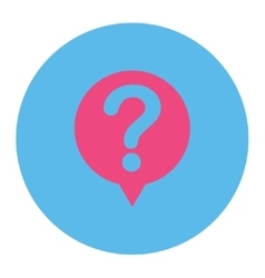 Status flat pink and blue colors round button vector