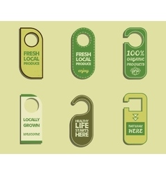 Stylish Farm Fresh Organic brand door badge vector image