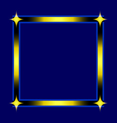 stylish square frame with 4 stars isolated on vector image