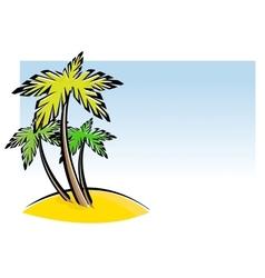 Three palm trees vector