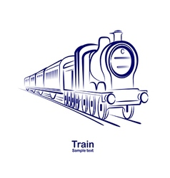 Train 3 vector image