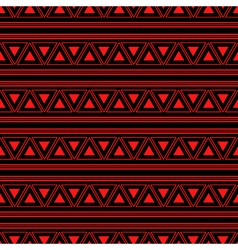 Triangle Aztec Red Neon Background vector