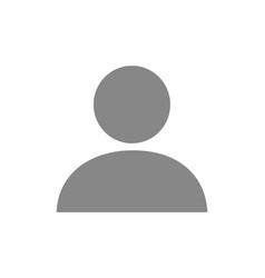 User profile grey icon web avatar employee vector