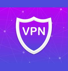 Vpn safety shield sign vector
