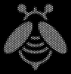 White dot bee icon vector