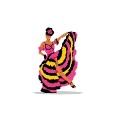 Cancan girl sign French woman dancer in a vector image vector image