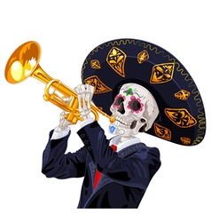 Day of the Dead Trumpet Player vector image vector image