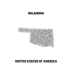 Label with map of oklahoma vector