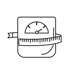 Line weight machine with measuring to have healthy vector