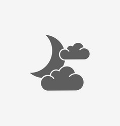 moon and cloud icon vector image