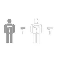 painting master set icon vector image vector image