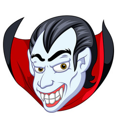 vampire face cartoon vector image