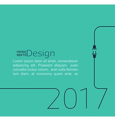 New year-2017 vector image vector image