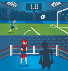professional sport horizontal banners vector image vector image