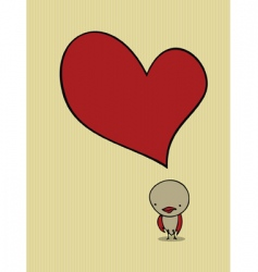 cute bird card vector image vector image