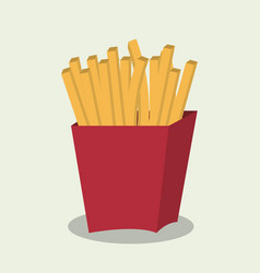 fries french fast food design isolated vector image vector image