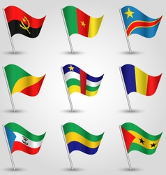 set of flags central africa vector image vector image
