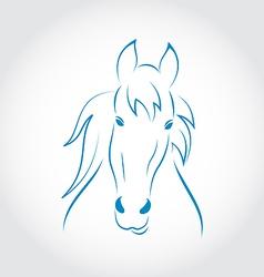 Symbol outline head horse vector image vector image