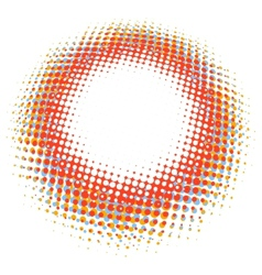 Abstract digital blob halftone flash plus EPS10 vector image