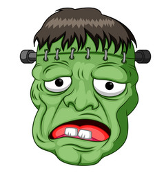 frankenstein head cartoon vector image