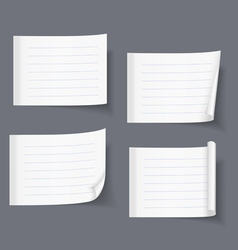 Lined sticky papers vector