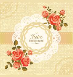 retro floral card vector image