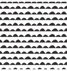 Scandinavian black and white pattern in vector image vector image