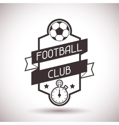 Sports label with football symbols vector image vector image