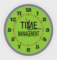 Time managment vector image