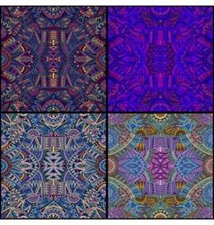tribal ethnic seamless pattern set vector image vector image