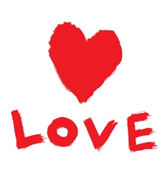 Abstract love symbol vector