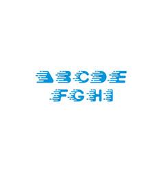 alphabet digital logo icon vector image