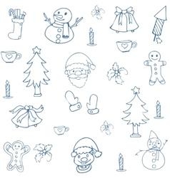 art of christmas set element vector image