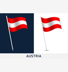 austria flag waving national flag vector image