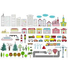 big set city elements vector image